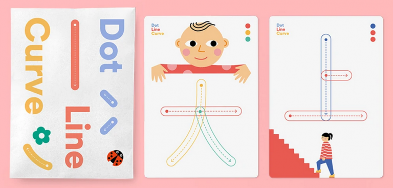 Dot Line Curve: Write & Wipe Cards. Agnes Wong.