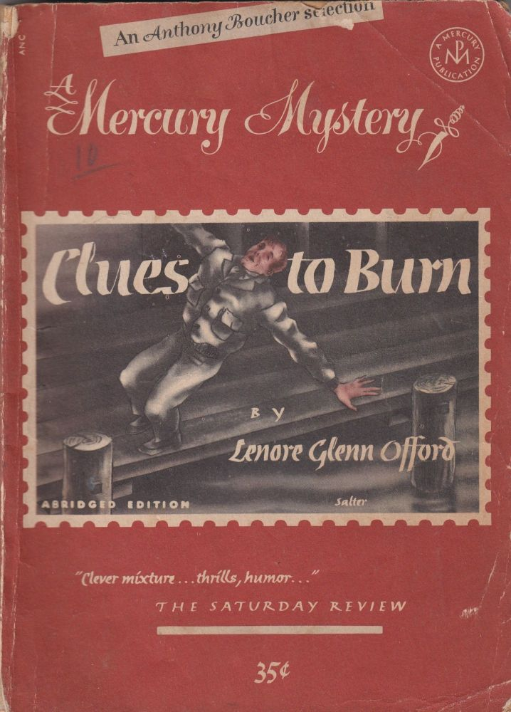 Mercury Mystery No. 186: Clues to Burn. Anthony Boucher Lenore Glen Offord, introduction.