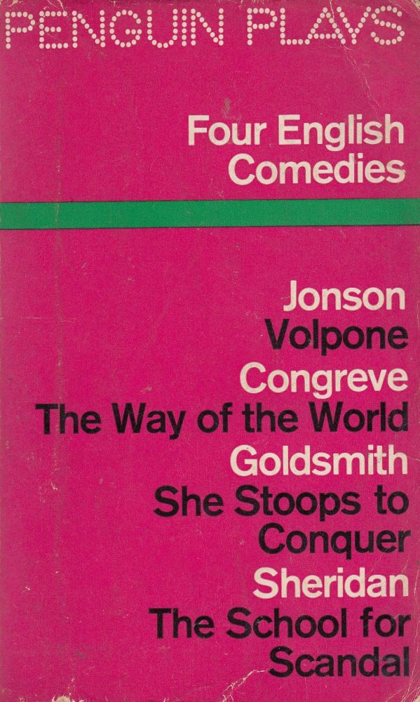 Four English Comedies of the 17th and 18th Centuries. J M. Morrell.