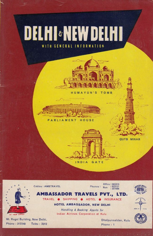 Delhi & New Delhi: Guide for Businessmen and Visitors. Indian Tourist Publications.