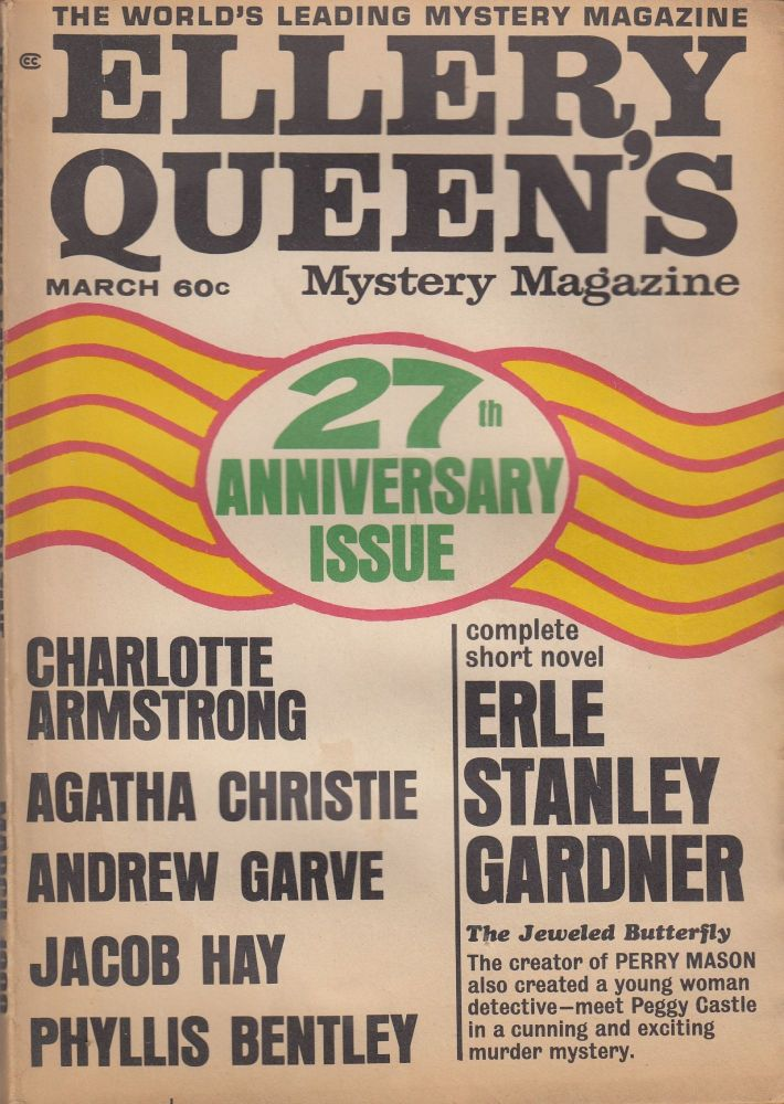 Ellery Queen's Mystery Magazine Vol.51, No.3 - March 1968 (27th Anniversary Issue). Ellery Queen.