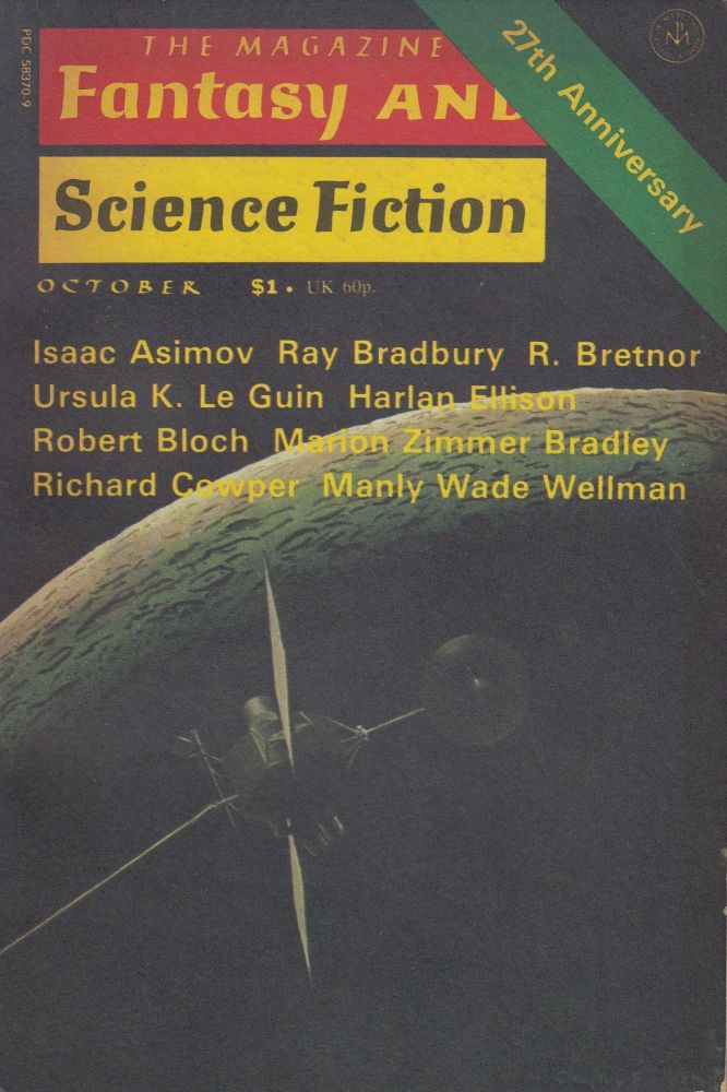 The Magazine of Fantasy and Science Fiction Vol. 51, No. 4 - October 1976. Isaac Asimov Edward L. Ferman.
