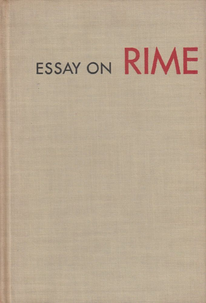 Essay On Rime. Karl Shapiro.