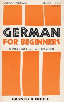 German for Beginners. Paul Stamford Charles Duff