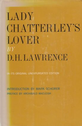 Lady Chatterley's Lover. D H. Lawrence