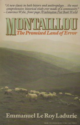 Montaillou: The Promised Land of Error. Emmanuel Le Roy Ladurie