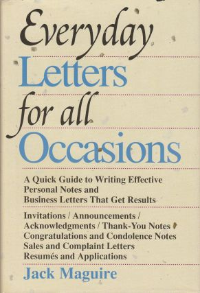 Everyday Letters for all Occasions. Jack Maguire