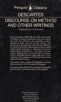 Discourse on Method and Other Writings