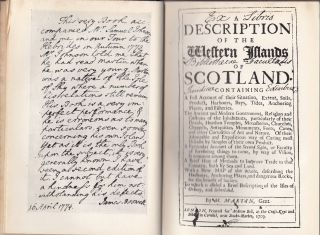 Johnson's Journey to the Western Islands of Scotland and Boswell's Journal of a Tour to the Hebrides with Samuel Johnson, L.L.D.