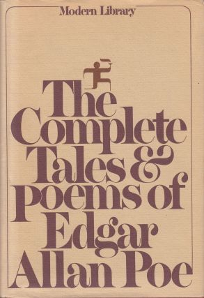The Complete Tales & Poems of Edgar Allan Poe. Hervey Allen Edgar Allan Poe, intro.