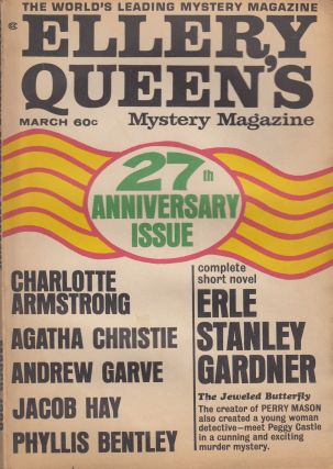 Ellery Queen's Mystery Magazine Vol.51, No.3 - March 1968 (27th Anniversary Issue). Ellery Queen