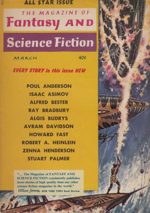 The Magazine of Fantasy and Science Fiction Vol.16, No.3 - March 1959 (All Star Issue). Isaac Asimov Robert P. Mills.