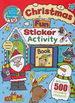Christmas Fun Sticker Activity Book With Over 500 Reusable Stickers