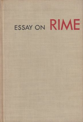 Essay On Rime. Karl Shapiro